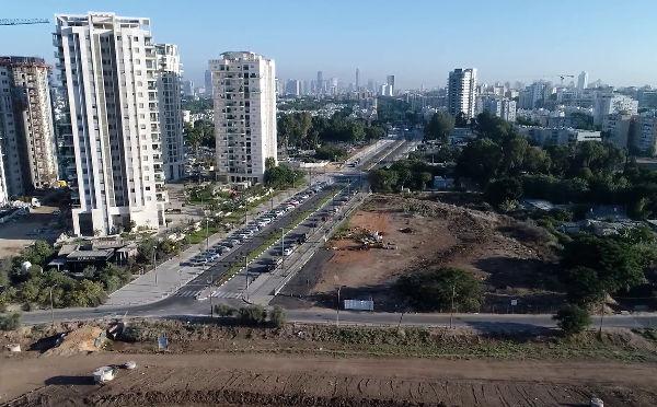פתיחת כביש משה דיין - פרויקט פארק תל אביב